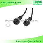 WDC-02C: 2 Pin LED Waterproof Connector Wire