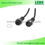 WDC-03C: 3 Pin LED Waterproof Connector Wire with Copper Nuts