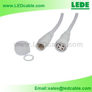 WDC-04B: 4 Pin LED Lighting Waterproof Connector Wire