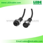 WDC-04C: 4 Pin LED Waterproof Connector Wire with Copper Nuts