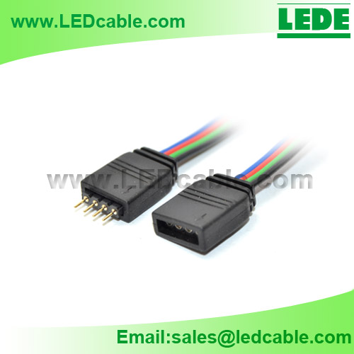 LSW-08: 4 Wire RGB LED Extension Cord - Shenzhen LeDe Electronic Co ...
