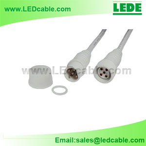 WDC-05B: 5 Pin LED Lighting Waterproof Connector Wire