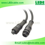 WDC-09C: 9 Pins LED Waterproof Power Cable With Copper Nut