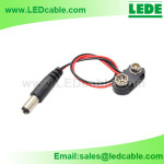 DC-05: 9V Battery Clip/Snap with DC Plug
