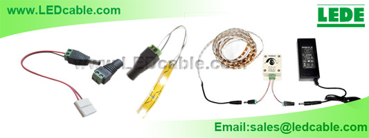 The Typical Usage of DC Plug with Screw Mount for LED Strip lighting