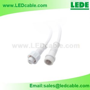 WDC-03B: Mini Waterproof Connector Cable for Outdoor LED Lighting
