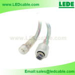 WDC-04D:4 Pin Waterproof Connector for RGB LED Strip