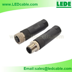 LWC-03: IP67 Waterproof  M12 Sensor Connector