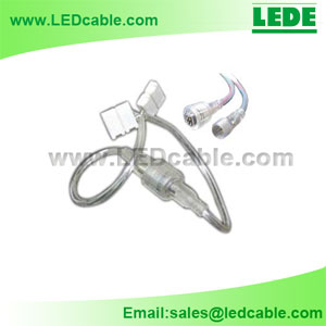DC-10E:4 Pin Waterproof Connector to Solderless Connector For LED Strip