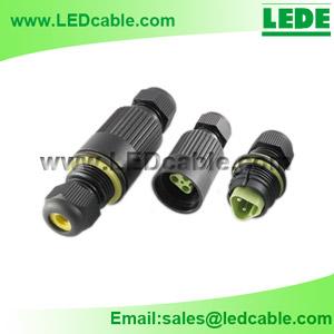 LWC-03C: IP68 Waterproof In-Line Cable Connector