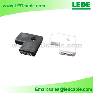 LSC-03B: RGB LED Flexible Strip L Type  Connector
