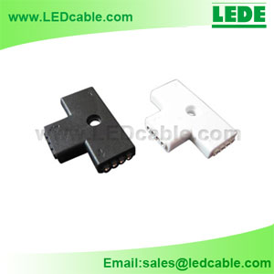 LSC-03C: RGB LED Flexible Strip T Type Connector