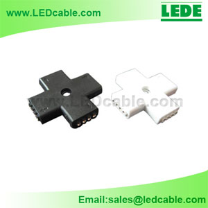 LSC-03D: RGB LED Flexible Strip Cross + Type Connector