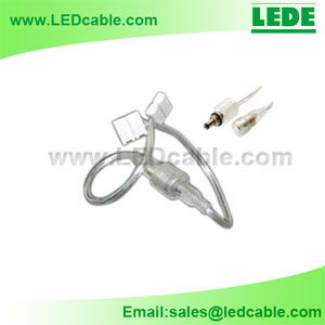 DC-09D: Waterproof DC Connector with Solderless Connector For LED Strip