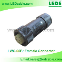 IP68 Waterproof Power Cable Connector-Female Parts