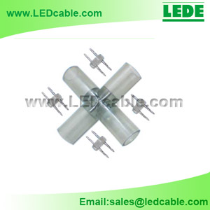 LRC-04A: 4-Way X Type Connector for LED Rope Light