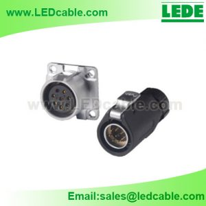 OLD-04: Waterproof Circular Data Connector For LED Display