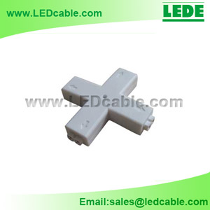 LSC-02D:2 Pin LED Strip X Type Connector
