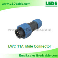 Mini IP68 Waterproof Circular Connector-Male Connector