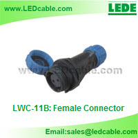 Mini IP68 Waterproof Circular Connector-Female Connector