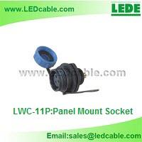 Mini IP68 Waterproof Circular Connector-Panel Mount Socket