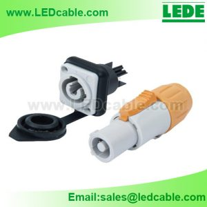 OLD-01: Waterproof Circular Power Connector For Outdoor LED Display