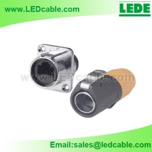 OLD-03: IP65 RJ45 Waterproof Connector For Outdoor LED Billboard