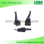 LSW-17: Locking 4 Wire RGB LED Strip Quick Connector
