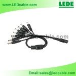 DC-03F: DC Plug 8-way Splitter For LED lighting