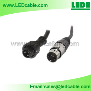WDX-03A: IP68 Waterproof 3-Pin to XLR Female DMX Adapter Cable
