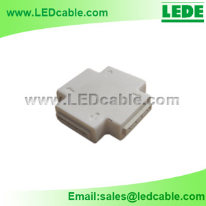 LSC-04D: Solderless RGB LED Strip-to-Strip X Type Connector