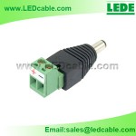 DCC-01B: DC Plug With Removable Terminal Block