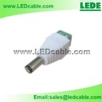 DCC-01W: DC Male Plug With Terminal Block for LED Strip Light-White