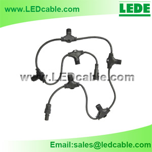 WDC-06M: LED lighting Waterproof Cable with Multiple Ports T Junction
