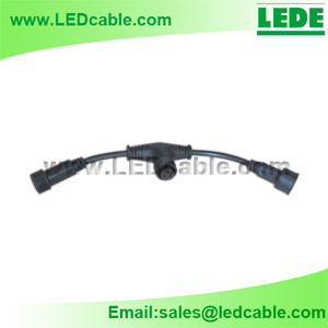 T Splitter Cable (1 Male to 2 Female Connector)