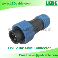 IP68 Waterproof Cable Circular Connector-Male Connector