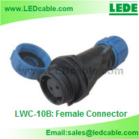 IP68 Waterproof Cable Circular Connector-Female Connector