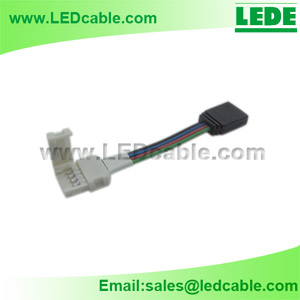 LSW-18: RGB LED Strip 4 Pin to Solderless Connector Adapter Cable