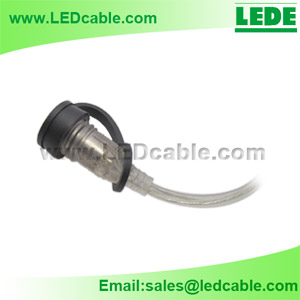 Waterproof DC power Cable with Dust Cover -Details -2