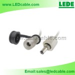 Waterproof DC power Cable with Dust Cover