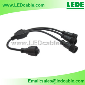 WDC-06Y: LED Lighting Waterproof Splitter Cable - Shenzhen LeDe ...