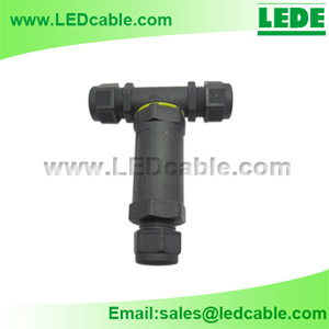 LWC-14: IP68 Waterproof 3-Pole T-Splitter Connector -1