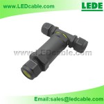 LWC-14: IP68 Waterproof 3-Pole T-Splitter Connector
