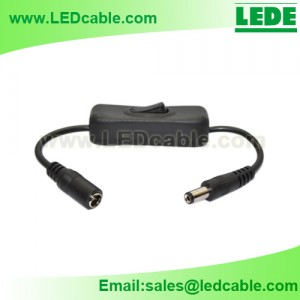 DC-14:12V Inline DC Cable with On Off Switch