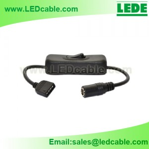 DC-15:LED Strip Connect Cable with On/Off Switch