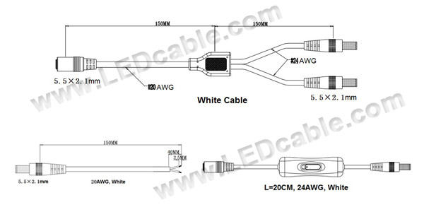 DC Cable with On Off Switch Project Kits