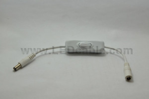 12V Inline DC Cable with On Off Switch