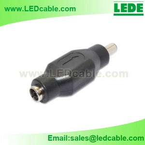DCC-06C: 5.5mm DC Female to Male Adapter
