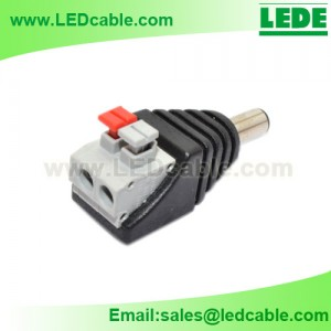 DCC-01C: New Easy DC Male Connector For LED lighting