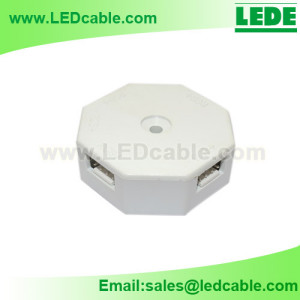 JB-08: Hexagon RGB LED Junctionn Box